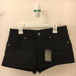 Black denim shorts - F21