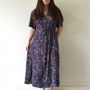 Vintage lavender floral dress
