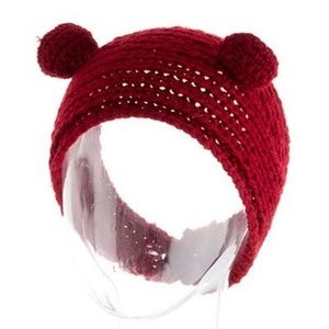 Other - Ladies Red Bear Hat with built in ears