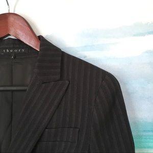 THEORY Pinstripe Blazer Two Button