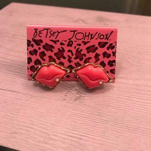 Betsy Johnson Lips earrings