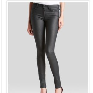 Joe's Jeans mid rise skinny jeans coated black