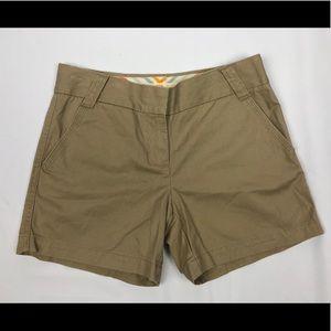 J. crew khaki classic twill shorts