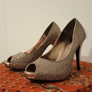 Lulu Townsend Peep-toe Heel Size 8 •Pewter•