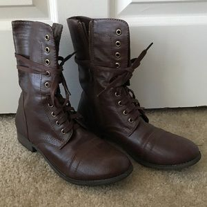 Women's Rampage Combat Boots Size 9