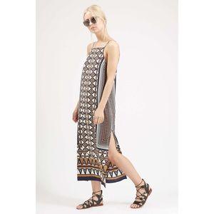 TopShop Striped Midi Slip Dress