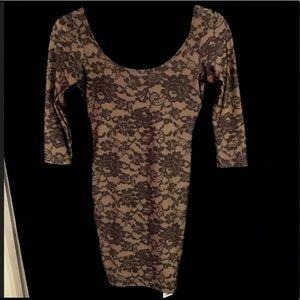 NWT. American Apparel printed Nylon & Lace Dress!
