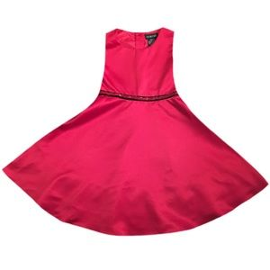 Girl's Red Sleeveless Holiday Dress
