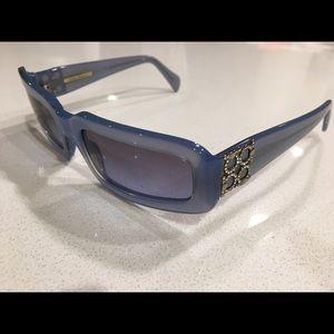 Salvatore Ferragamo Blue Rhinestone  Sunglasses