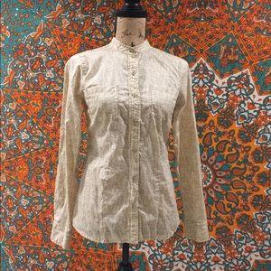 MICHAEL KORS  Long Sleeve button up blouse size 4