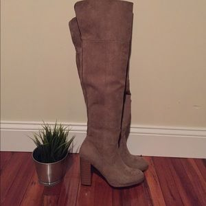 Women's NEW JustFab over the knee boots, size 7.5