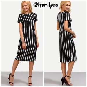 Dresses & Skirts - BLACK Vertical Striped dress