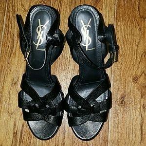 Yves Saint Laurent ladies platforms size 38 .5