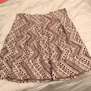 Geometrical shirt A line skirt