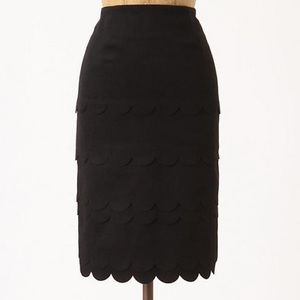 Maeve Anthropologie Wool Scalloped Pencil Skirt 2