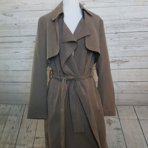 NWT Banana Republic Soft Trench Coat, Oilve color