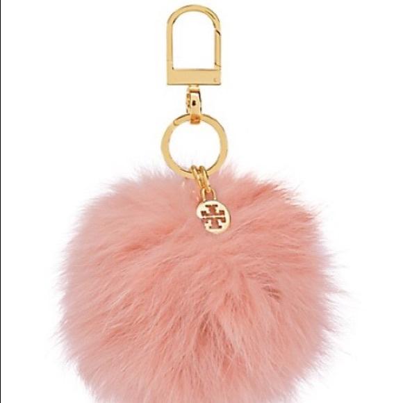 NWT Tory Burch Fox Fur Pom Pom Key Fob 897f35c072b5
