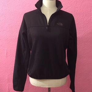 The North Face black 1/4 zip pullover