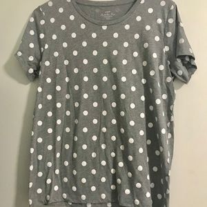 JCrew Factory Polka Dot Collectors Tee Large