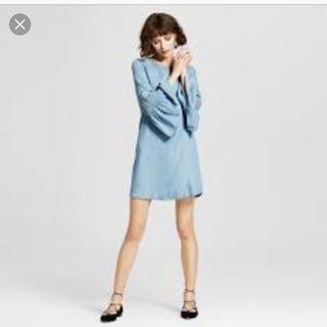 Dresses & Skirts - Amazing flare sleeves chambray dress