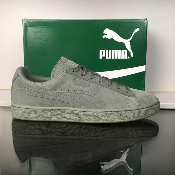 Puma Agave Green Suede Classic Tonal NWT