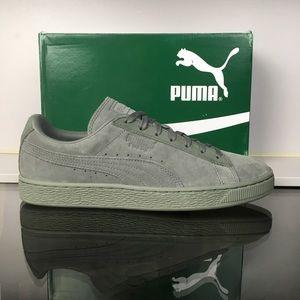 Puma Agave Green Suede Classic Tonal