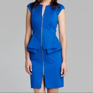 Ted Baker structured peplum full-zip dress