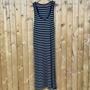 J. Crew striped soft stretchy knit maxi dress