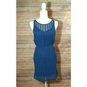 Plenty by Tracy Reese striped mesh blue dress