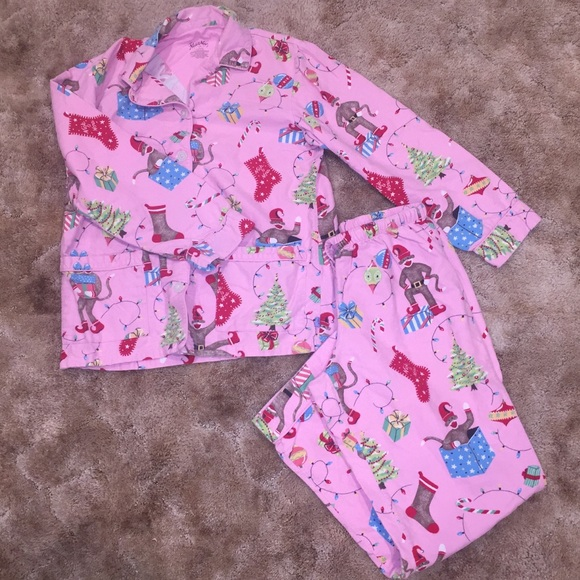 S NICK /& NORA MEN//WOMEN//CHILDREN 2 PIECE CHRISTMAS PAJAMAS sock monkey