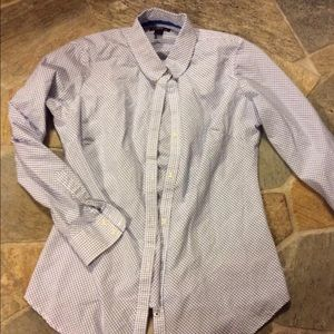 Steve & Barrys Blouse plaid button down Sz L