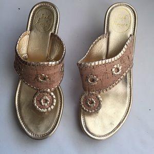 Jack Rogers Cork Platform Wedge Sandals