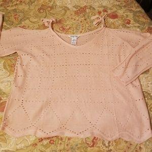 Indigo Rein Juniors  knit sweater cold shoulder