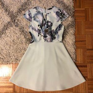 Ted Baker Floral Skater Dress 👗Size 2 (US Size 6)