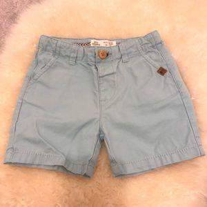 Zara Flat Front Light Blue Shorts Size 9-12 months