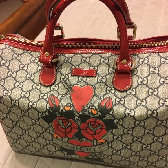 0f7b1562c44 Gucci Handbags - Gucci Rose Tattoo Bag