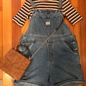 Vintage Old Navy overall shorts