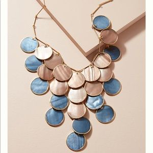 Anthro shell bib necklace