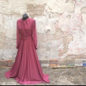Vintage Pink long dress