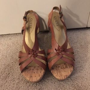 Brand New Tan Guess Wedges