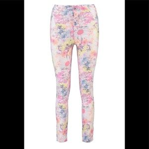 NWT!! Lara High Rise Floral Tube Jeans 🌸US SIZE 6