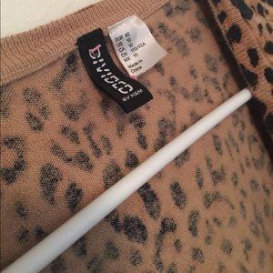 H&M Women's Leopard Print LS ButtonDwn Shirt