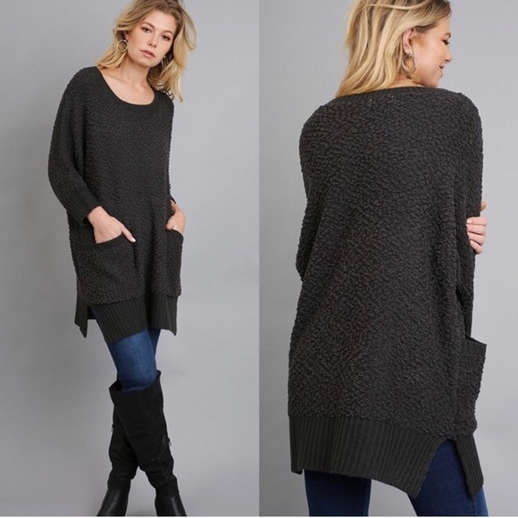 Charcoal Cozy Tunic Sweater with Pockets from Jessica's closet on ...
