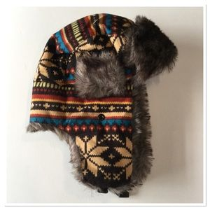 Winter Faux Fur Earflap Beanie