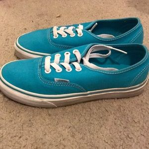 Teal/turquoise Vans!