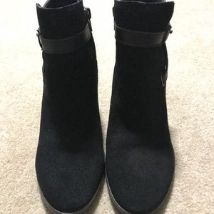Dolce Vira black suede booties
