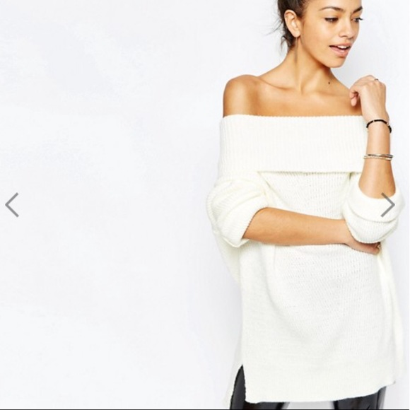 18% off Daisy Street Sweaters - Chunky Off The Shoulder Sweater ...