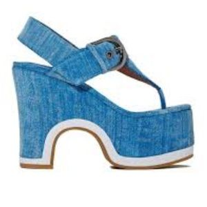 Jeffrey Campbell Denim Plarforms