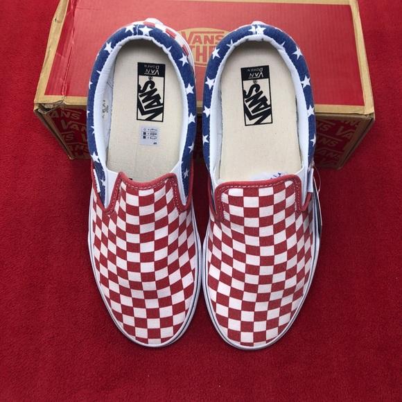 9f14676218 Vans Van Doren Classic Slip-On Stars And Stripes