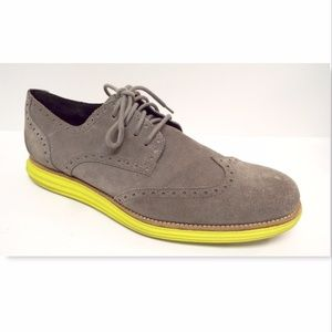 COLE HAAN Size 14  Gray Suede Oxfords Sneakers